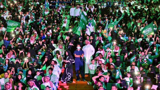 Women in Saudi Arabia cheer news they will be allowed into sport stadiums