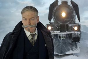 Kenneth Branagh and his moustache star as Hercule Poirot in <i>Murder on the Orient Express</i>.
