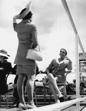 How embarrassing! In the Fashions on the Field at Flemington on Saturday, entrant Mrs John Sparrow, of Coogee, was ...