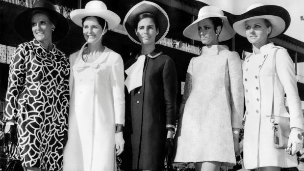 Final day winners of the Fashions in the Field contest held during the spring racing carnival at Flemington in 1967. ...