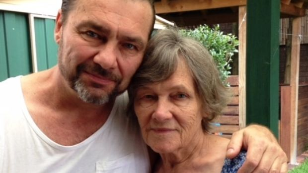 A recent photo of Anthony Caristo (pictured on left next to his mother) supplied by the Caristo family.