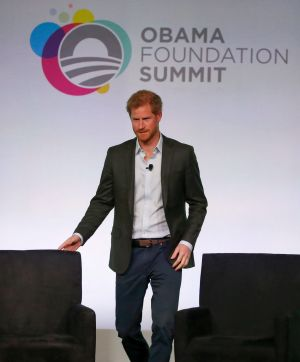 Prince Harry at the Obama Foundation Summit in Chicago in October.