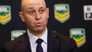 Under pressure: NRL boss Todd Greenberg.