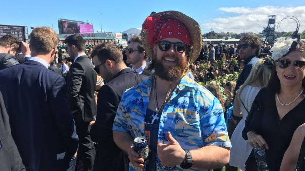Mitchell Oliver from Burnie, Tasmania, ignored the black and white dress code.
