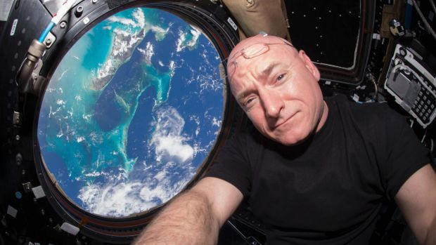 DNA changes: Astronaut Scott Kelly takes a photo of himself inside the  International Space Station in July  2015.