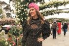 Kate Waterhouse donned a Alessandra Rich dress and opted for a Gucci turban rather than a hat.