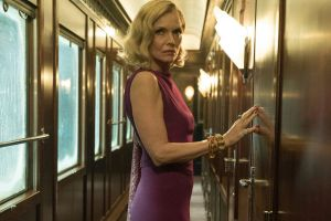 "Michelle Pfeiffer in Murder on the Orient Express. ""I'm never going to be one that retires."""