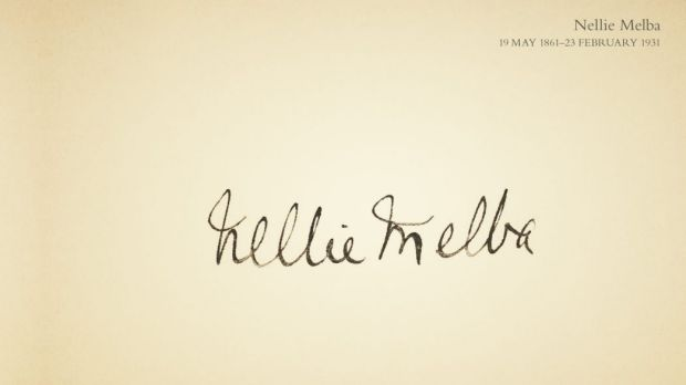 Nellie Melba's signature. From Signed by Hand.