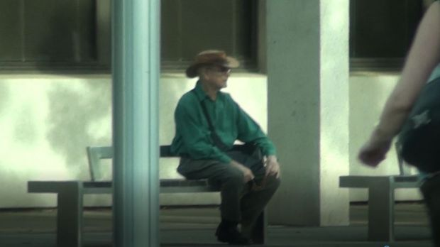 A still from footage tendered in court of the men's actions on November 3.