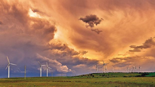 Changing skies above Capital Wind Farm near Bungendore, October 2014.