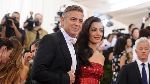 George Clooney and Amal Clooney arrive at The Metropolitan Museum of Art's 2015 Costume Institute benefit gala ...