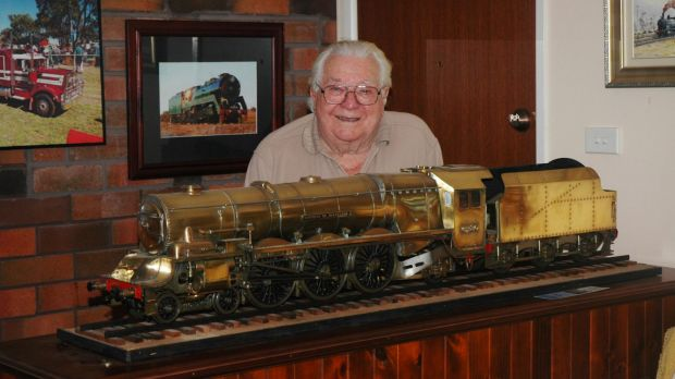Norm Mitchell, 90, founded a model trains group in the Coffs Harbour area and the members have a pact to help sell each ...