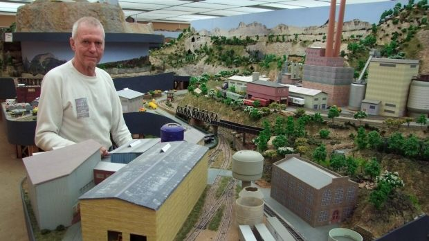 Retired air force transport pilot Bill Baggett has a model railway worth tens of thousands of dollars in a purpose-built ...