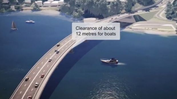 Artist's impression of replacement Batemans Bay bridge