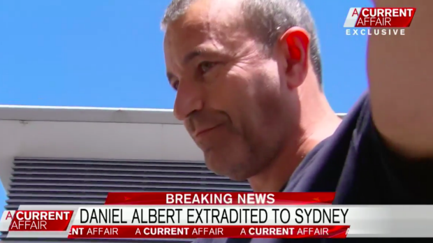 Daniel Albert, 51, was arrested at Sydney Airport on Friday.
