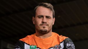 Josh Reynolds is pictured at Concord Oval in his new West Tigers jersey on 10 November, 2017. Photo: Brook Mitchell