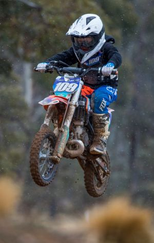 Seth Marsden, 8, will compete in the Australian KTM Supercross Challenge in Sydney in front of 20,000 people.