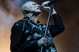Peter Garrett of Midnight Oil performs at the Domain in Sydney last year.