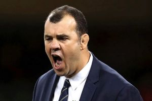 Losing his cool: Michael Cheika was left fuming after a spate of controversial refereeing decisions.