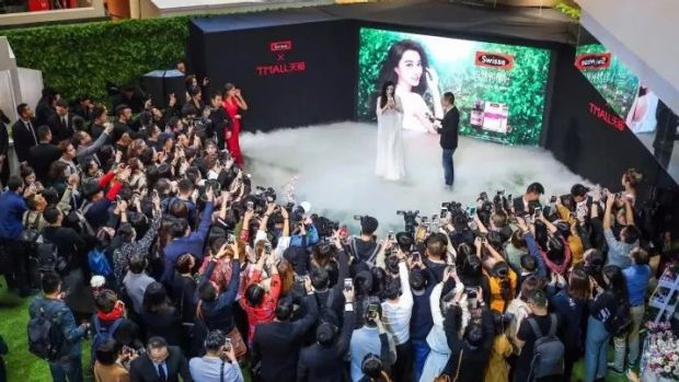 Chinese film star Fan Bingbing at an event for vitamin company Swisse in Shanghai