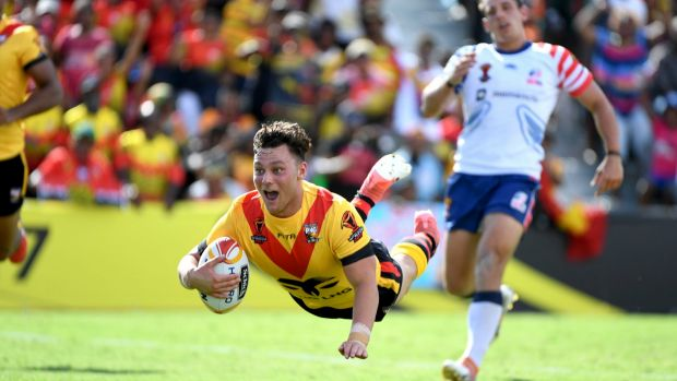 Flying start: Lachlan Lam starred on debut for PNG on Sunday.