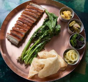 Share-friendly barbecue pork belly.