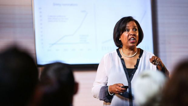 Microsoft global head of industry Toni Townes-Whitley in Sydney on Monday.
