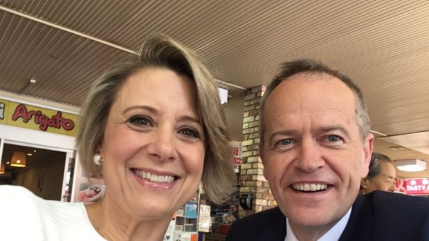 Former NSW premier Kristina Keneally with Opposition Leader Bill Shorten.