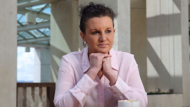 Jacqui Lambie at Parliament House in Canberra.