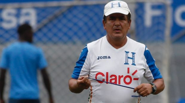 Not happy: Honduran boss Jorge Luis Pinto wanted media removed from the stadium.