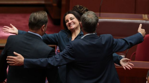 Senator Jacqui Lambie in the Senate on Tuesday.