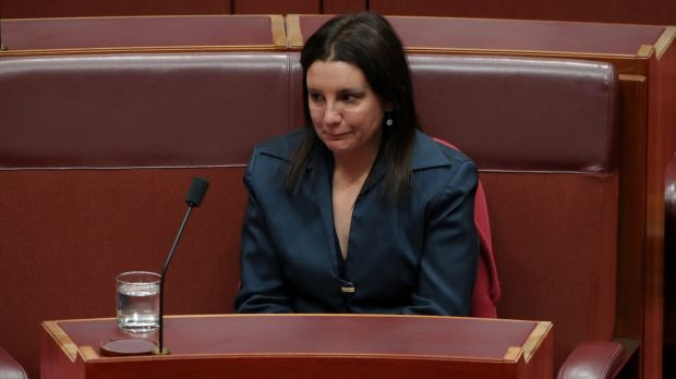 Jacqui Lambie after she informed the Senate she was resigning because of her dual citizenship.