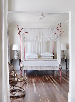 "STYLING TIP: ""The positioning of a central hanging light in a bedroom might interfere with the height and details of a ..."