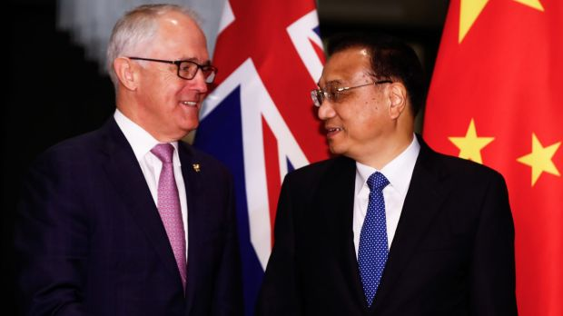 Turnbull meets Chinese Premier Li Keqiang on the sidelines of the ASEAN summit in Manila.