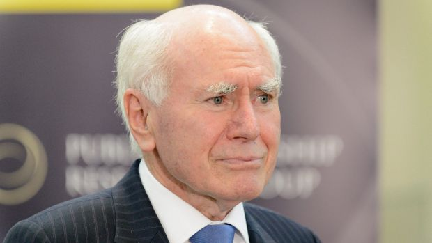 Former prime minister John Howard at Old Parliament House on Tuesday.