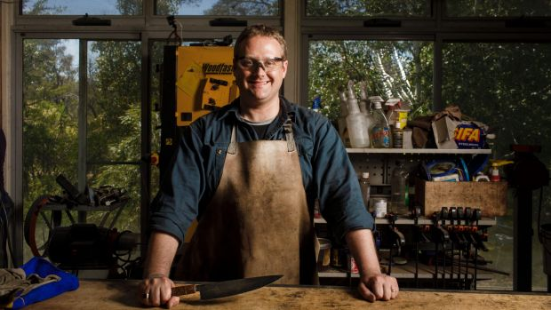 Army veteran Mark Toogood loves the creative outlet that Tharwa Valley Forge provides.
