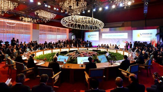 The East Asia Summit during the Association of South East Asian Nations (ASEAN) forum in Manila, Philippines.
