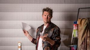 Eddie Perfect with swatches of Vivid White.
