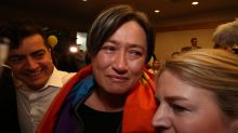 Senator Penny Wong after the result in the same sex marriage survey at Parliament House.