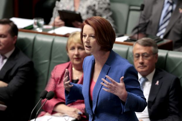 ''I will not be lectured about sexism and misogyny by this man'': Prime Minister Julia Gillard replies to Opposition ...