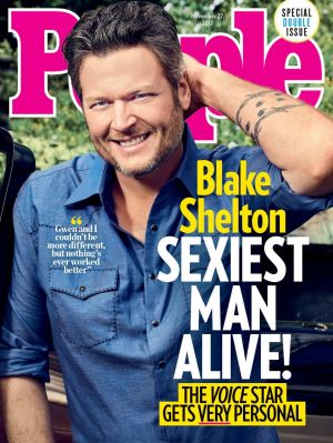 Blake Shelton has been named People's'Sexiest Man Alive'.