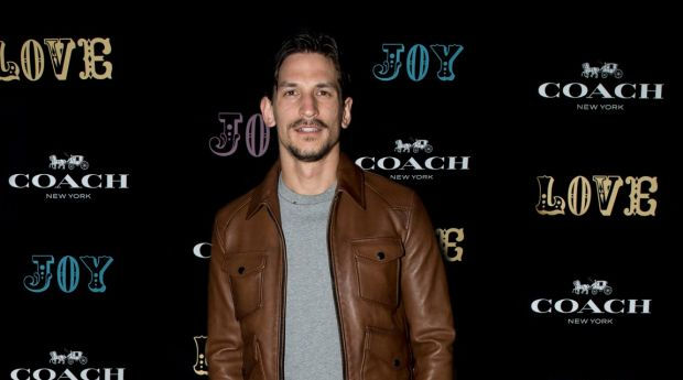 International model Jarrod Scott at the launch of Coach Australia's Westfield Sydney flagship store at The Standard Bowl.