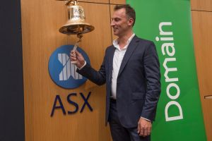 Domain CEO Antony Catalano rang the trading bell. In its first few minutes on the boards, the real estate site's share ...