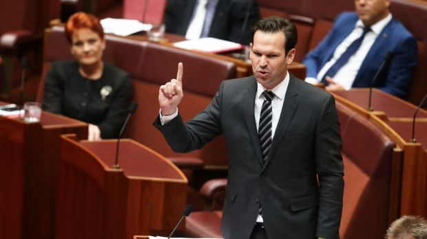Resources Minister Matt Canavan during question time on Tuesday.