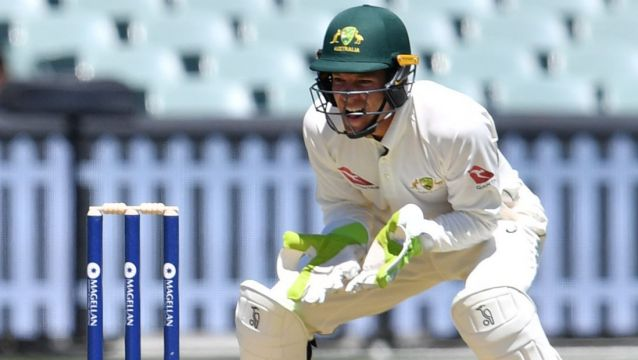 Controversial selection: Tim Paine minds wickets behind James Anderson during England's tour match against a Cricket ...