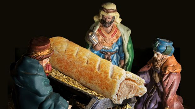 The Nativity scene created by British bakery Greggs to promote its Advent calendar.