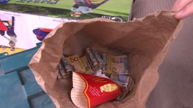 Money seized during raids across Sydney.