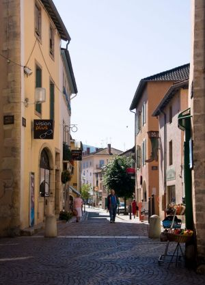 A typical street in the town of Cluny, in Burgundy