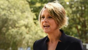 Kristina Keneally the Labor candidate for Bennelong during a press conference in Blenheim Park, North Ryde, Sydney. 17th ...