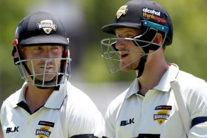 Vote of faith: Shaun Marsh (left) has been recalled despite not compiling a hundred so far this season.